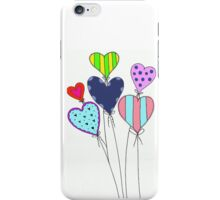 Colorful Heart Balloons. Love iPhone Case/Skin