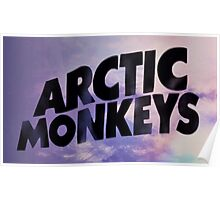 Arctic Monkeys Light Blue Purple Poster