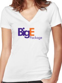 Big E's Package (FedEx) Women's Fitted V-Neck T-Shirt