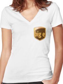 Big E's Package (UPS) Women's Fitted V-Neck T-Shirt