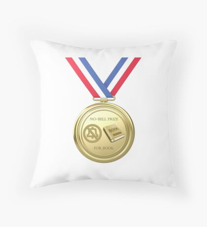 No-Bell Prize for Book Throw Pillow