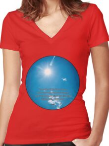 The sun, Hafiz Women's Fitted V-Neck T-Shirt