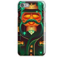 Halloween Pumpkin Mustache Art iPhone Case/Skin