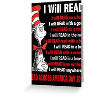 I Will Read - Read Across America Day 2016 Greeting Card
