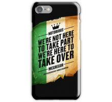 Conor McGregor - [Take Over Flag] iPhone Case/Skin