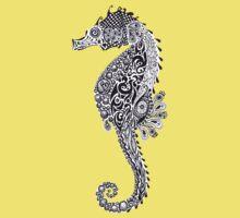 Seahorse Doodle Baby Tee