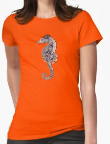 Seahorse Doodle Womens Fitted T-Shirt