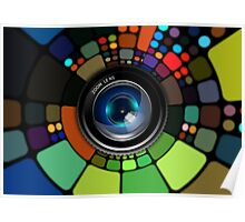 Colorful Camera Lens Poster