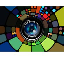 Colorful Camera Lens Photographic Print