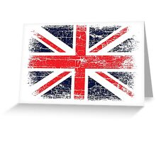 Vintage UK British Flag design Greeting Card