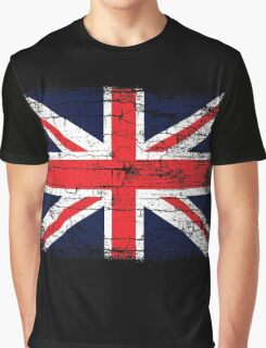 Vintage UK British Flag design Graphic T-Shirt