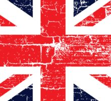 Vintage UK British Flag design Sticker