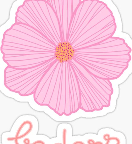 Badass - Pink Cosmos Sticker