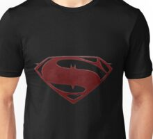 cape crusader logo Vs man of steel logo 2 Unisex T-Shirt