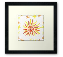 Hand drawn watercolor seamless pattern. Framed Print