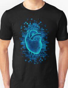 Gamer Heart BLUE TECH Unisex T-Shirt