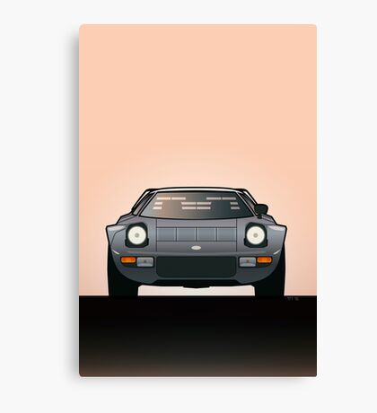 Modern Euro Icons Car Series Lancia Stratos HF Tipo 829 Canvas Print