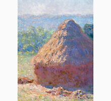 1891-Claude Monet-Haystacks, end of Summer-60 x 100 Unisex T-Shirt