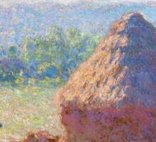 1891-Claude Monet-Haystacks, end of Summer-60 x 100 Sticker