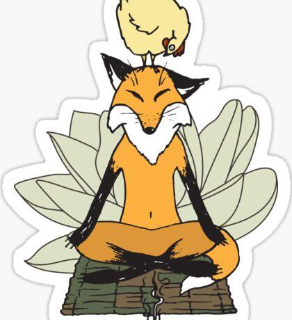 Brave Chicken, Zen Fox Sticker