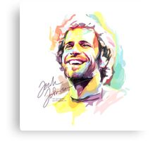 Jack Johnson in Watercolor Canvas Print