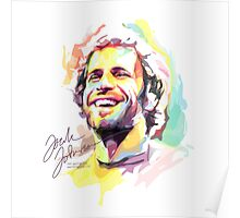 Jack Johnson in Watercolor Poster