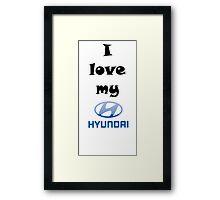 HYUNDAI Framed Print