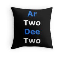 Phonetic R2-D2 Throw Pillow