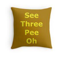 Phonetic C-3PO Throw Pillow