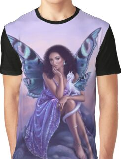 Evanescent Fairy & Dragon Art Graphic T-Shirt
