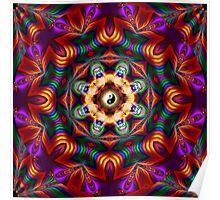 Mandala multicolor Poster