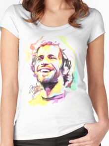 Jack Johnson in Watercolor Women's Fitted Scoop T-Shirt