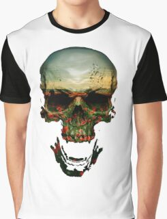 Field of Skull Graphic T-Shirt