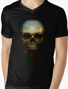 Field of Skull Mens V-Neck T-Shirt