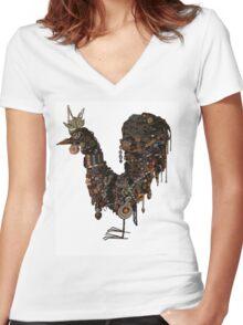 krazykritter bronzed aussie Women's Fitted V-Neck T-Shirt