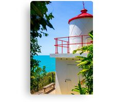Cute Little Red Lighthouse Canvas Print