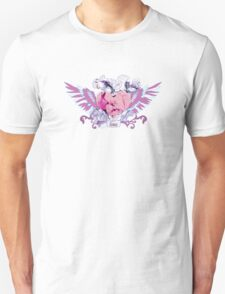 Abstract mix with heart with wings. Tattoo style Unisex T-Shirt