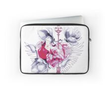 Abstract mix with heart with wings Laptop Sleeve