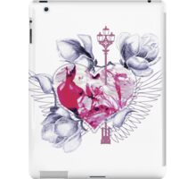 Abstract mix with heart with wings iPad Case/Skin