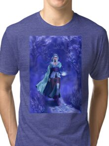 The nymph of the blue forest Tri-blend T-Shirt