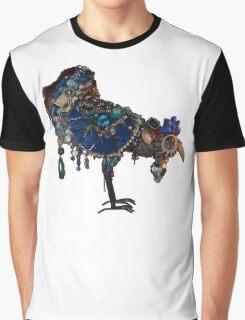 beautiful big blue blinged bird Graphic T-Shirt