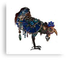 beautiful big blue blinged bird Canvas Print