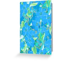 Blue flowers bouquet pattern Greeting Card
