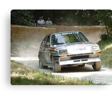 Vauxhall Chevette Rally Car Canvas Print
