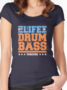 My Life is Drum and Bass 2 Women's Fitted Scoop T-Shirt