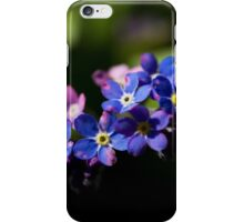 Forget-me-not flowers iPhone Case/Skin