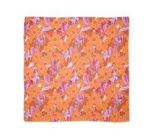 Orange flowers bouquet pattern Scarf