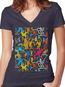 Let's Dance Women's Fitted V-Neck T-Shirt