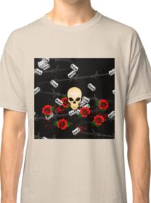 Skull Rose Blood Razor Suicide Classic T-Shirt