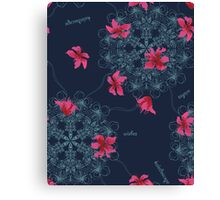 Seamless pattern abstract flower ornament Canvas Print